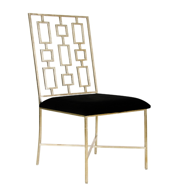 Worlds Away Silver Leaf Dining Chair With Black Velvet Seat : DAVID20SBLACK from www.theclassycottage.com size 800 x 800 jpeg 68kB
