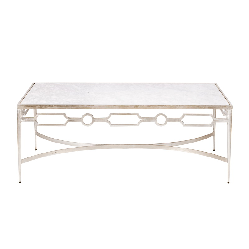 White Marble Top Coffee Table Carve Coffee Table Oak Base White Marble Top By Worlds Away