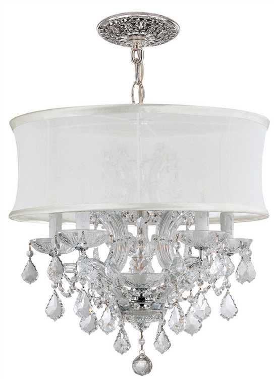 crystorama brentwood 6 light crystal chrome drum shade chandelier ii. Black Bedroom Furniture Sets. Home Design Ideas