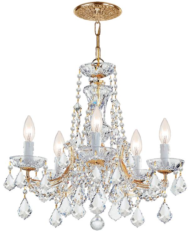 Crystorama Maria Theresa 5 Light Clear Elements Crystal