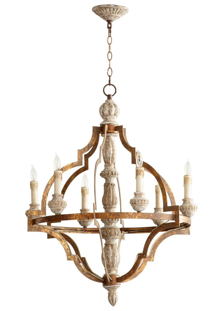 cyan design bastille 6 light chandelier. Black Bedroom Furniture Sets. Home Design Ideas