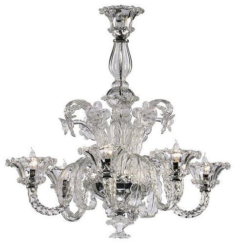 Cyan design la scala 6 light chandelier clear aloadofball Image collections