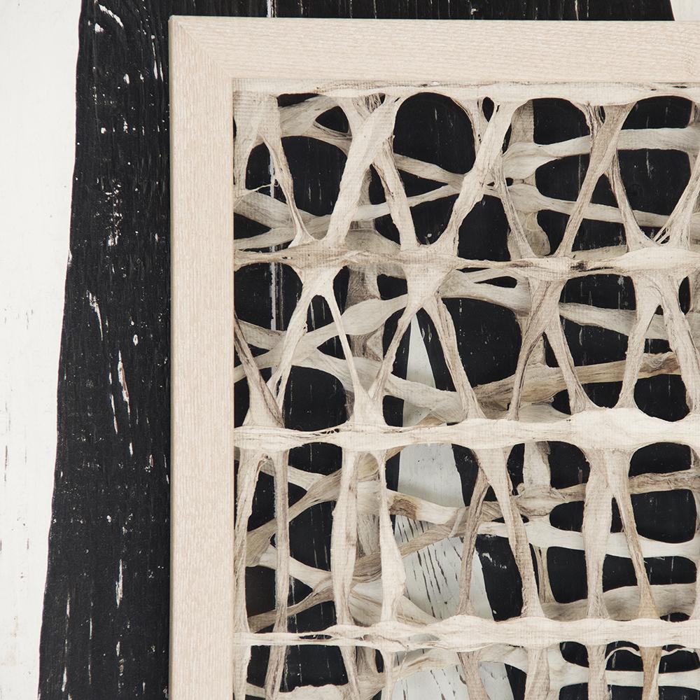 Zentique Abstract Paper Framed Art Fir Wood