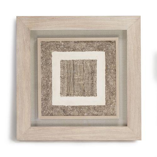 Zentique Abstract Paper Framed Art Handmade Paper Art