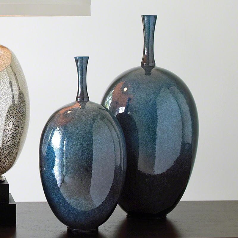Global Views Vase: Global Views Ovoid Vase Celestial Large