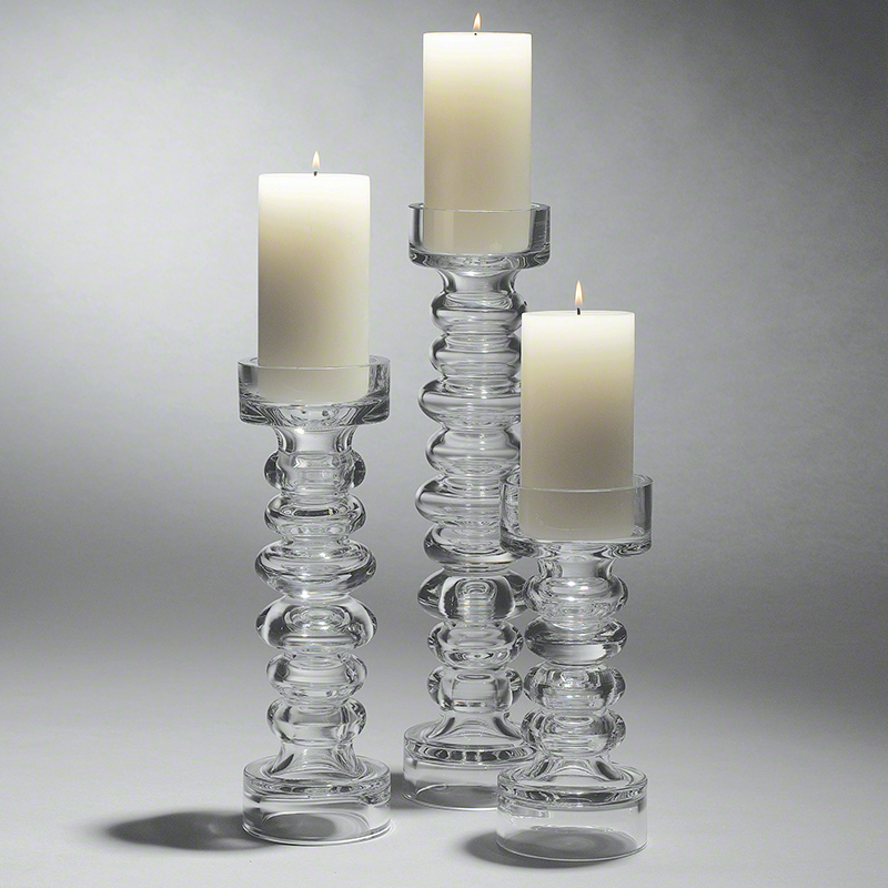 Global Views Glass: Global Views Glass Ribbed Candleholder Vase Large
