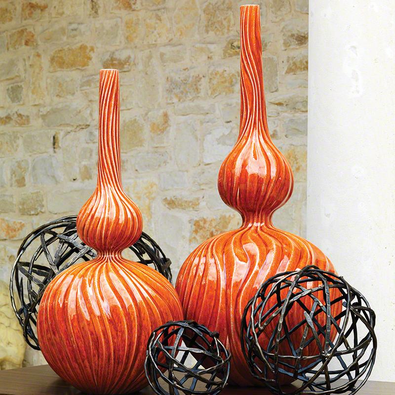 Global Views Vase: Global Views Magura Vase Mandarin Large