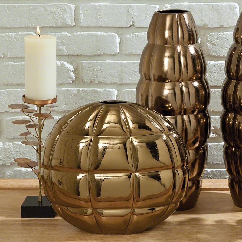 Global Views Vase: Global Views Pillow Vase Bronze