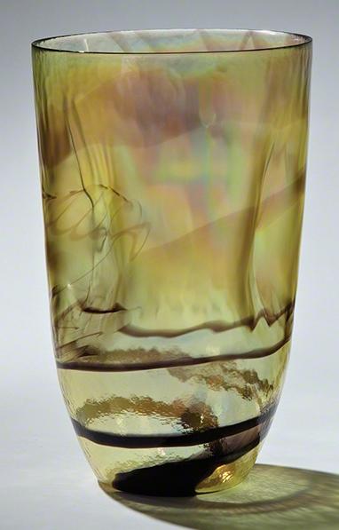 Global Views Gold Quartz Vase Large