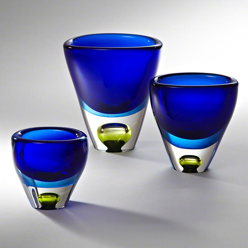 Global Views Vase: Global Views Perlette Vase Cobalt Large