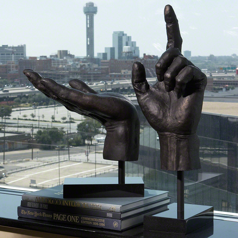 Global Views Metal Sculpture: Global Views Hand Sculpture Open Hand
