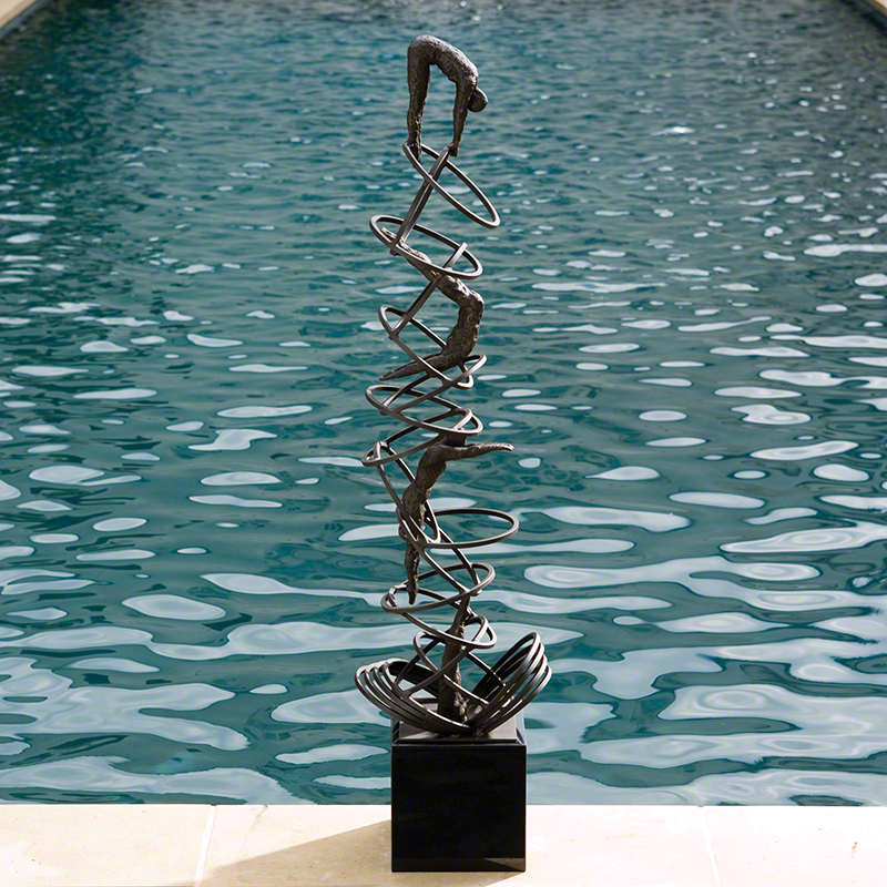 Global Views Wall Diver: Global Views Diver Sculpture