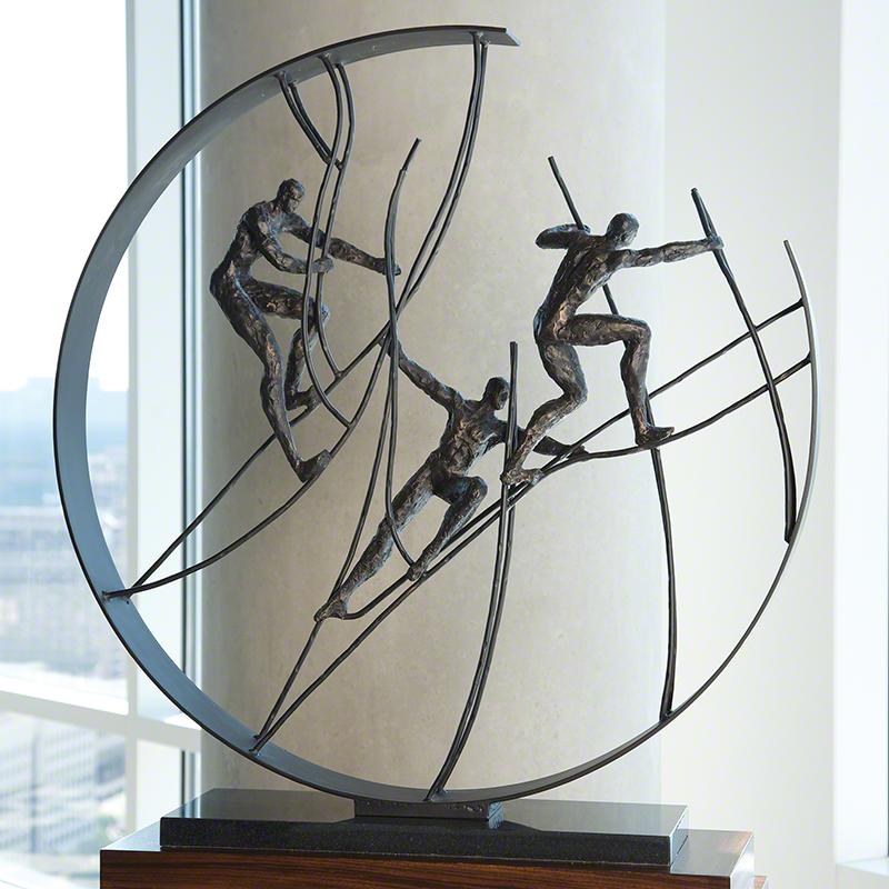 Global Views Metal Sculpture: Global Views Climb To The Top Sculpture