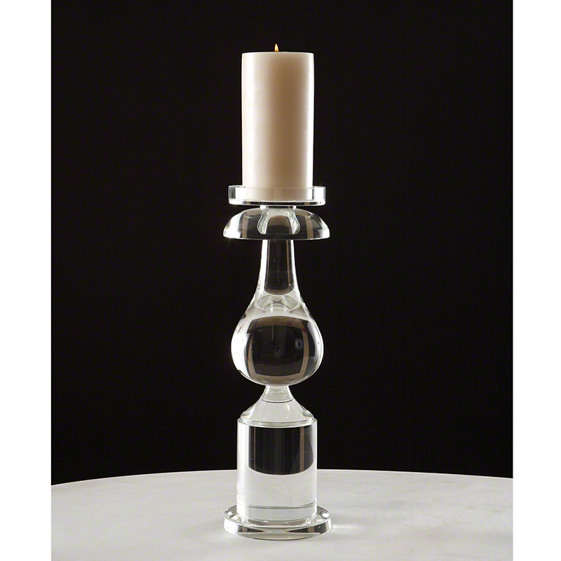Global Views Glass: Global Views Classic Bulb Crystal Candle Holder