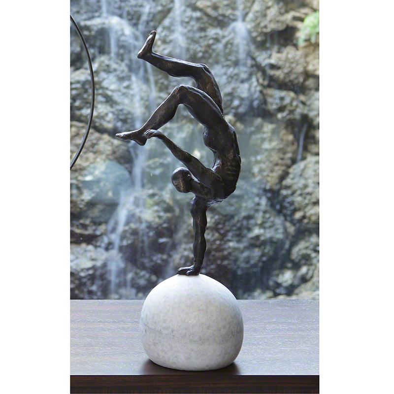 Global Views Metal Sculpture: Global Views One Hand Balancing Act
