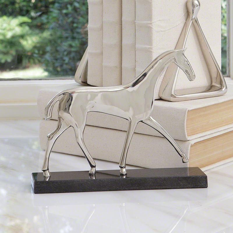 Global Views Horse: Global Views Equestrian Sculpture
