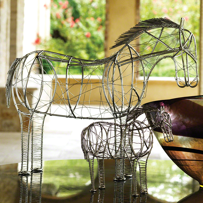 Global Views Horse: Global Views Wire Horse Large