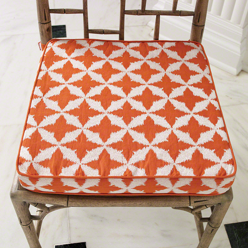 Global Views Solitaire Seat Cushion Tangerine