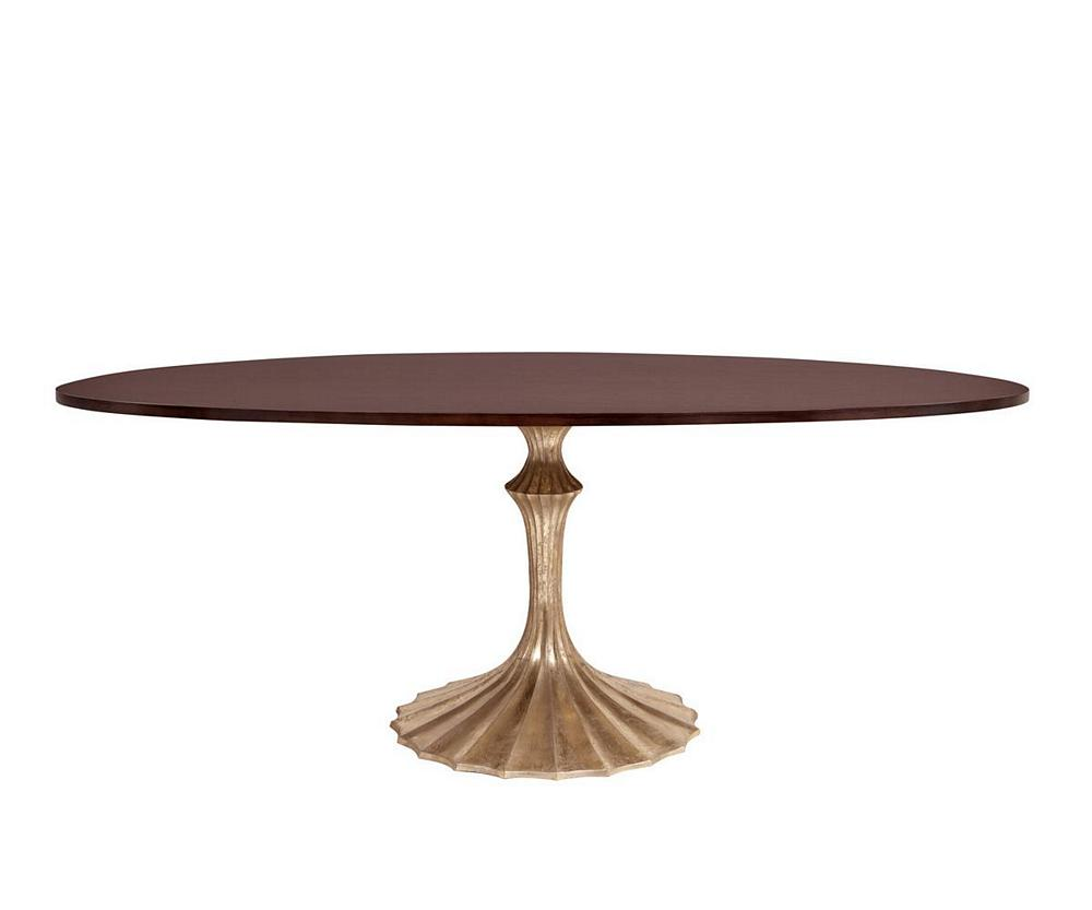 Emporium Home Flute Dining Table Oval Gold