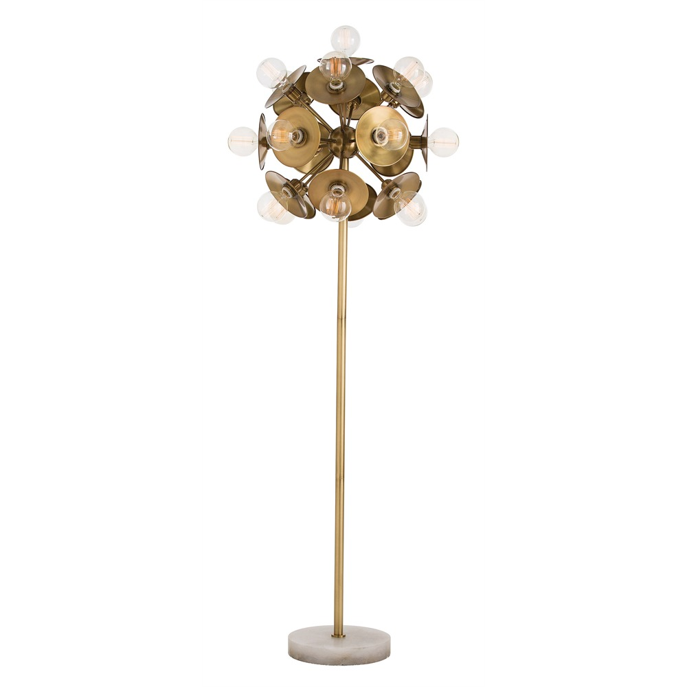 arteriors keegan floor lamp antique brass. Black Bedroom Furniture Sets. Home Design Ideas