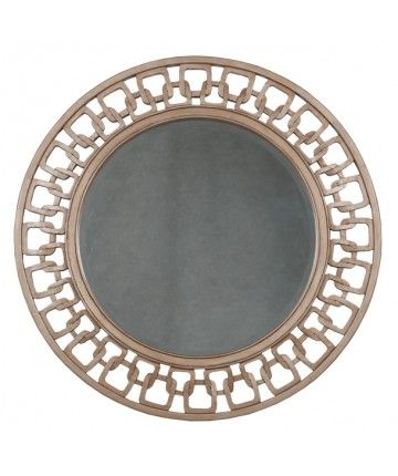 timeless classics carved chain circle mirror