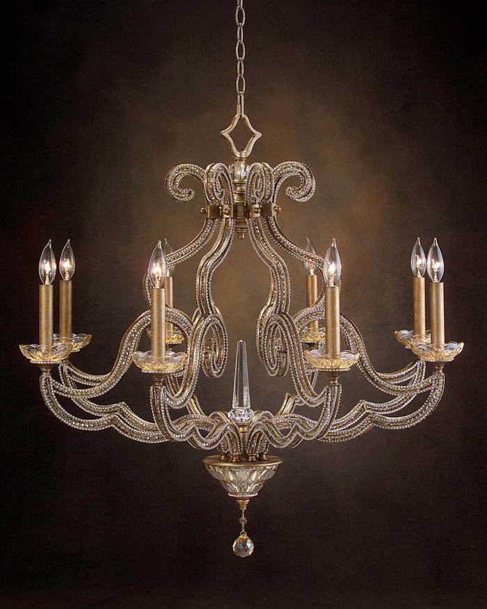 john richard 8 light chandelier ajc 8680. Black Bedroom Furniture Sets. Home Design Ideas