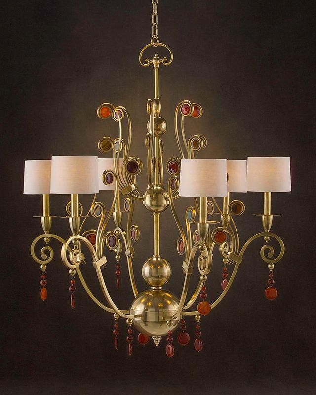 john richard 6 light chandelier ajc 8685. Black Bedroom Furniture Sets. Home Design Ideas
