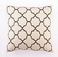 "Brown Moroccan Tile Linen Pillow 20x20"" 100% Linen"