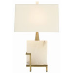 Arteriors Herst Rectangle Snow Marble/Vintage Brass Lamp
