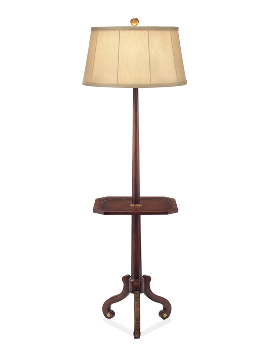 john richard 68 quot traditional tray table floor lamp jrl 8477
