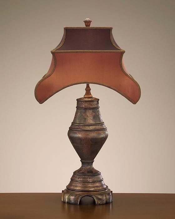 john richard 30 39 39 wood copper table lamp. Black Bedroom Furniture Sets. Home Design Ideas
