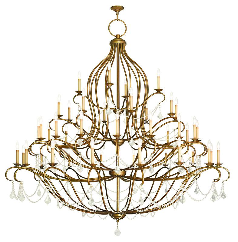 Grand Foyer Chandelier : Livex lighting chesterfield grand foyer chandelier hand