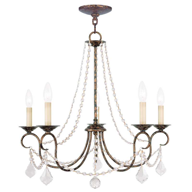 Venetian Bronze Chandelier: Livex Lighting Pennington Chandelier Hand Applied Venetian