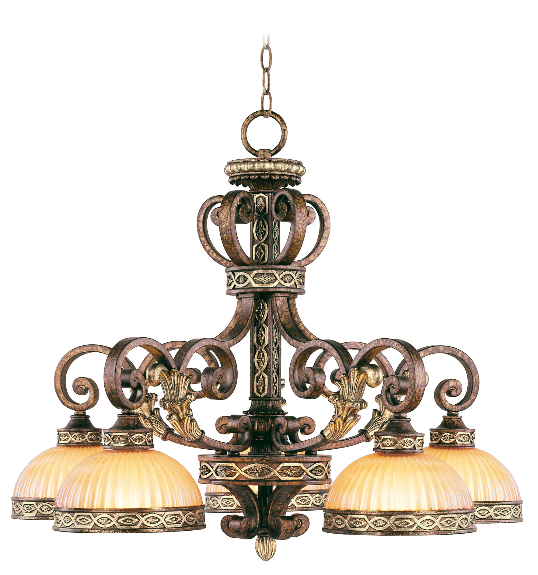 livex lighting seville chandelier palacial bronze with gilde