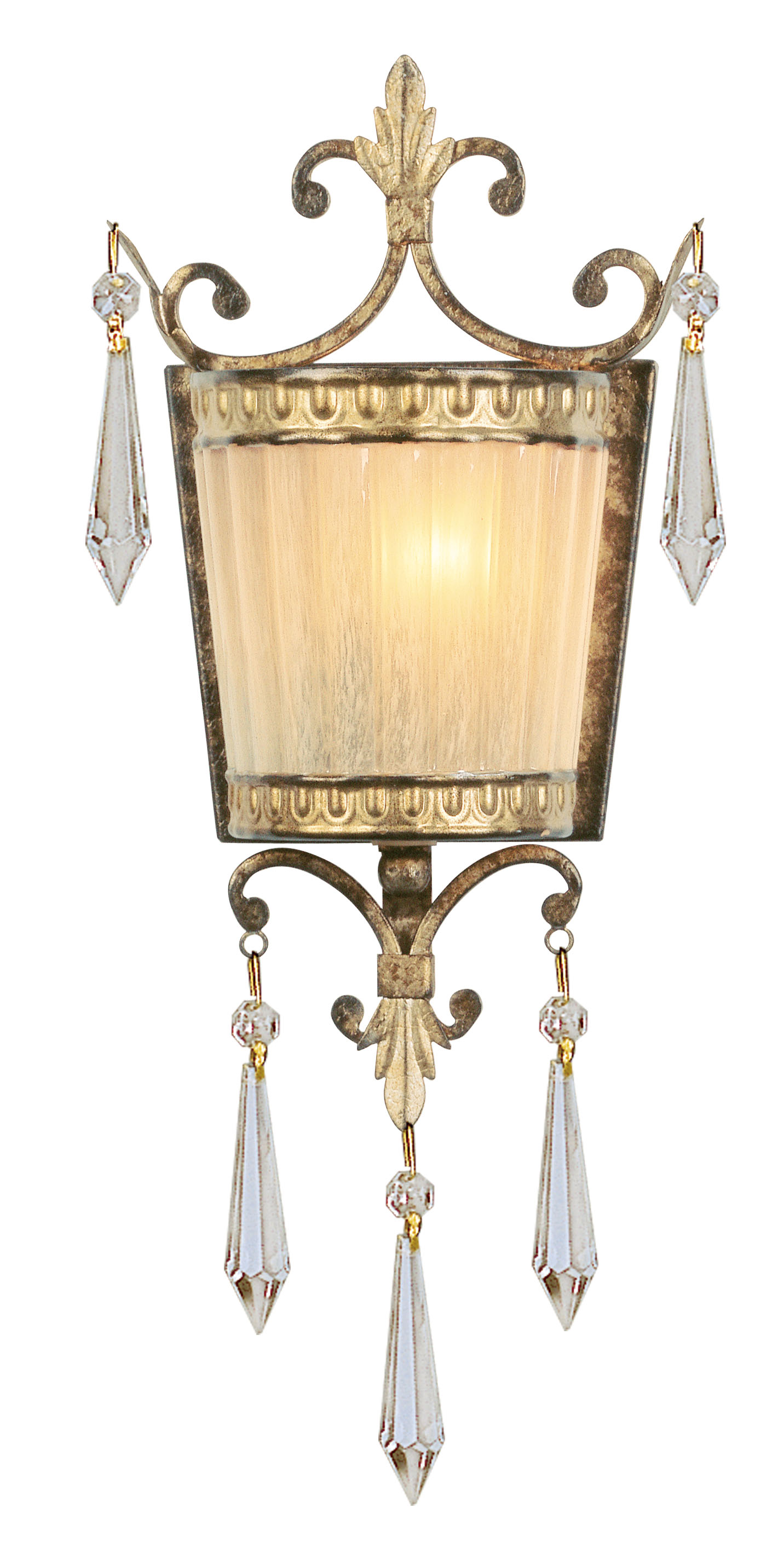 Livex Lighting La Bella Wall Sconce Hand Painted Vintage Gold Leaf 8880-65
