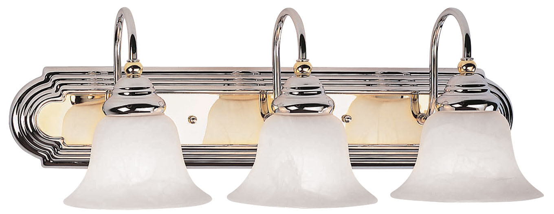 Progress Lighting Archie 3 Light 8 75 In Polished Chrome: Livex Lighting Belmont Bath Light Chrome & Polished Brass