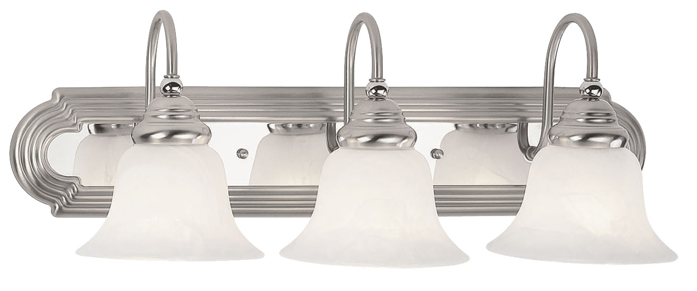 Progress Lighting Archie 3 Light 8 75 In Polished Chrome: Livex Lighting Belmont Bath Light Brushed Nickel Finish