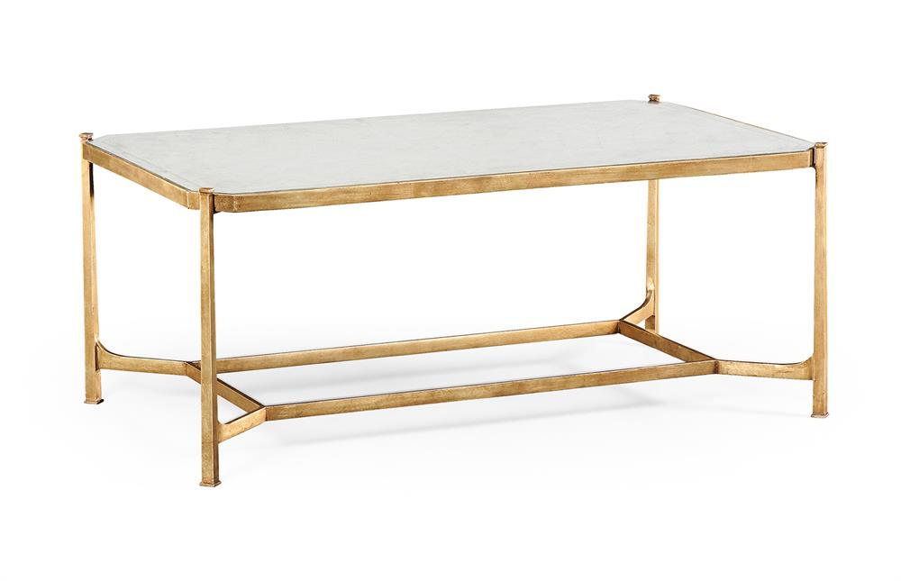 Gold frame coffee table