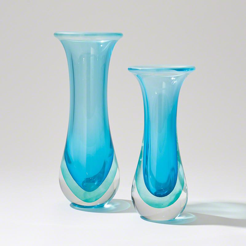 Global Views Vase: Global Views Flair Vase Ocean Large