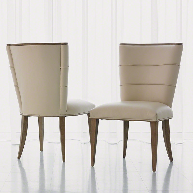 Kitchen Stools Adelaide: Studio A Adelaide Side Chair Beige Leather