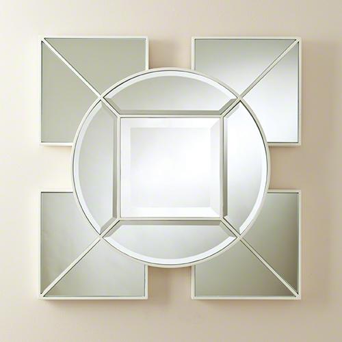 Global Views Arabesque Square Mirror White