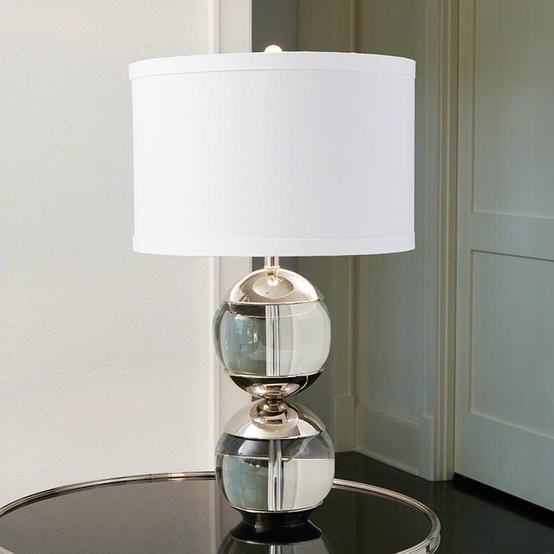 Global Views Capped Table Lamp Nickel