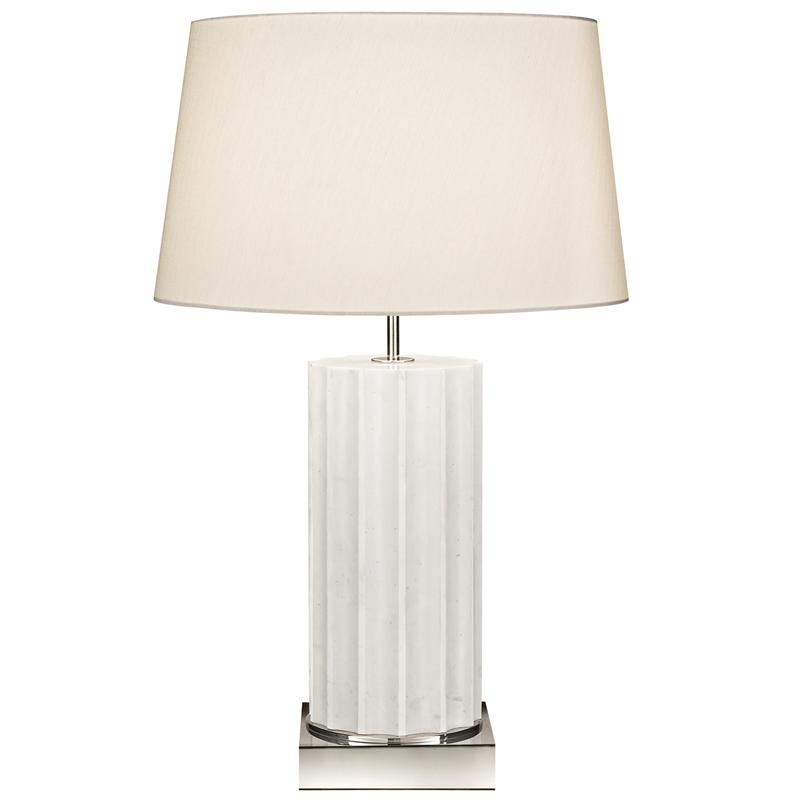 White Table Lamps : Fine Art Lamps White Marble Table Lamps 826210ST