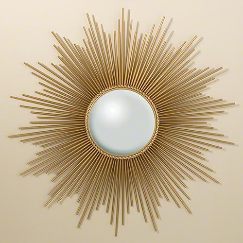 Global Views Sunburst Mirror Nickel: Global Views Sunburst Mirror Gold