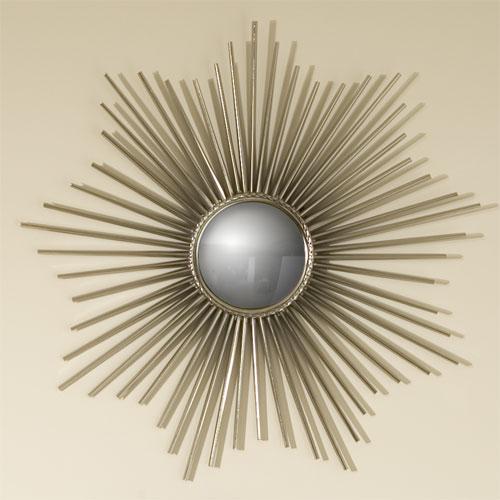 Global Views Sunburst Mirror Nickel: Global Views Mini Sunburst Mirror Nickel