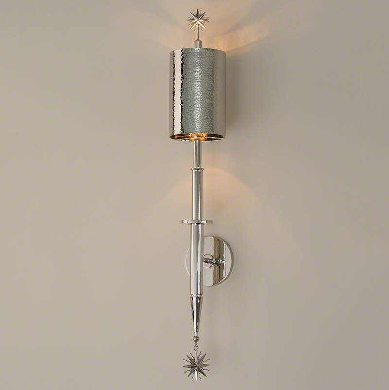 Wall Sconce With Star : Global Views Star Arm Wall Sconce Nickel