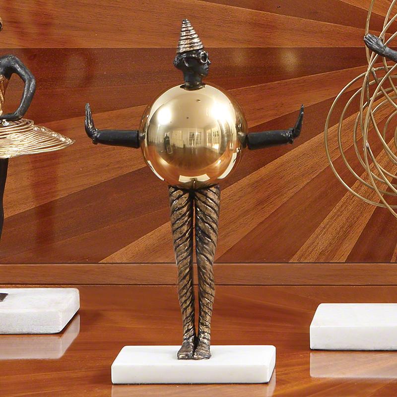 Global Views Metal Sculpture: Global Views Bauhaus Sphere Woman