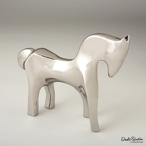 Global Views Horse: Global Views Horse Bright Silver Sculpture