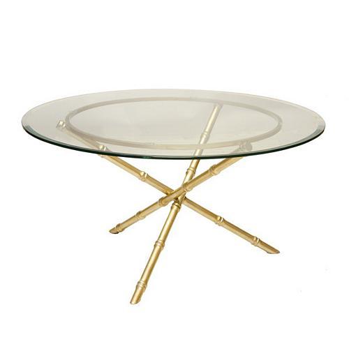 Worlds Away Avery Gold Leafed Bamboo Coffee Table Base With Inch - 30 inch table base