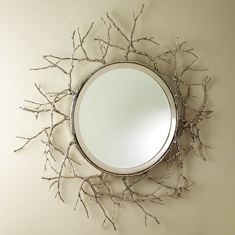 Global Views Twig Mirror Nickel